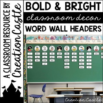 Bold and Bright Word Wall Headers