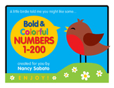 Bold and Colorful Printable Numbers 1-200