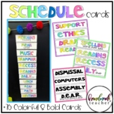 Bold and Colorful Schedule Cards