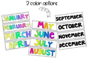 Bold and Colorful Wall Calendar Set