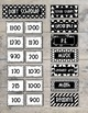 Bold and Modern (Black & White) Class Daily Schedule Pocket Chart Cards EDITABLE