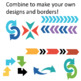Bold colorful arrows with no outline or shadow 168 clip art images