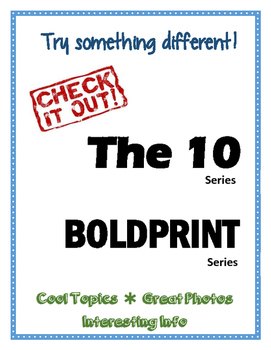 Boldprint Books & The 10 Books - Library Display Sign
