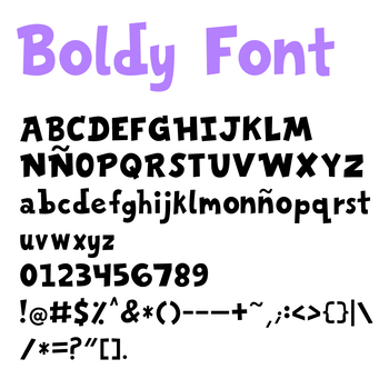 Boldy Font!