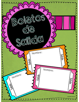 FREE Boletos de Salida - Exit Tickets