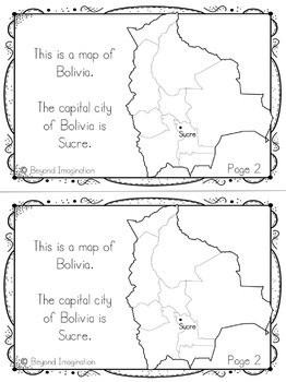 Bolivia Booklet Country Study Project Unit