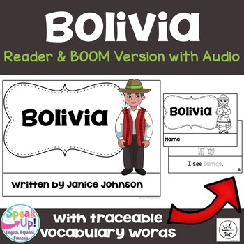 Bolivia Reader {English Version} & Vocab pages ~ Simplified for Young Learners