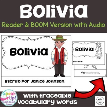 Bolivia Reader {en español} & Vocab pages ~ Simplified for Language Learners