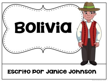 Bolivia Reader & vocab pages in English & Spanish {Bilingual version}