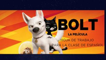 Bolt-Spanish movie worksheet