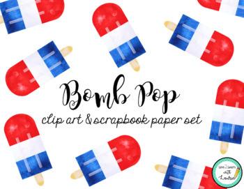 Bomb Pop Clip Art and Scrapbook Paper Set