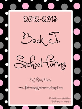 Bombdiggity Back to School Forms