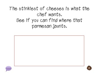"""""""Bon Apetit, The Chef SaysTo Eat"""" -following directions book WITH manipulatives"""