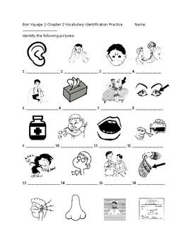 Bon Voyage 2 Chapter 2 Vocabulary Identification Practice/Quiz