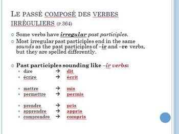 Bon Voyage Chapitre 11 PowerPoint
