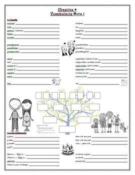 Bon Voyage Chapitre 4 Vocabulaire Guided Notes & Study Guide