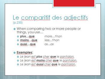 Bon Voyage Chapitre 7 PowerPoint