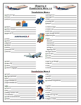 Bon Voyage Chapitres 8-9 Guided Notes & Study Guide