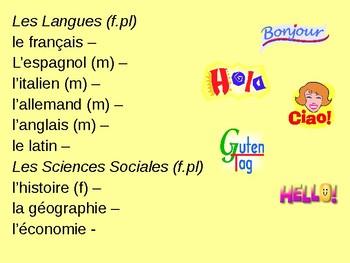 Bon Voyage Francais 1 Chapitre 2 PowerPoint