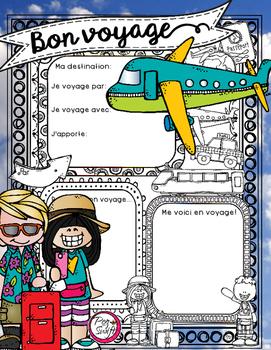 Bon Voyage ☼ French Poster