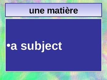 Bon Voyage 1 Chapitre 2 vocabulary power point