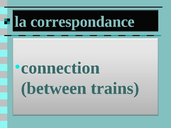 Bon Voyage 1 Chapitre 9 vocabulary power point