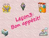 BON APPETIT! Discovering French Bleu: Unit 2 - Lecon 3 Power Point Lesson