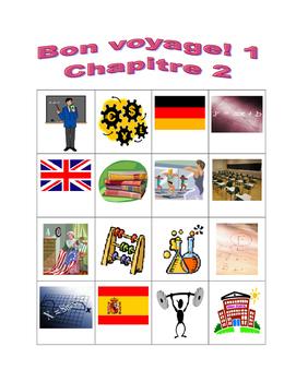 Bon voyage 1 Chapitre 2 Bingo