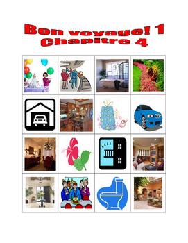 Bon voyage 1 Chapitre 4 Bingo