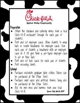 Bona Fide Chick-fil-A Decimals