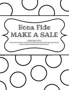 Bona Fide Make a Sale