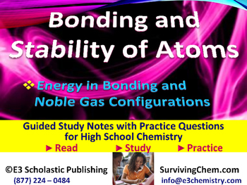 Bond Energy & Stability of Atoms: Guided Study Notes & Practice for HS Chemistry