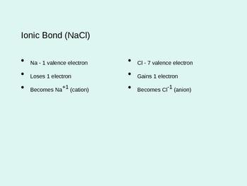 Bond Type PowerPoint