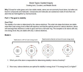 Bond Types Guided Inquiry