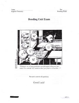 Bonding Unit Exam Regents Chemistry Test