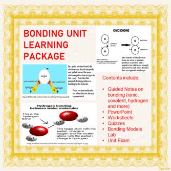 Bonding Unit Learning Package