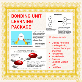 Chemical Bonding Worksheet And Keys Teaching Resources Teachers