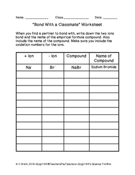 Bonding With a Classmate Wo... by LAB RAT RESOURCES | Teachers Pay ...