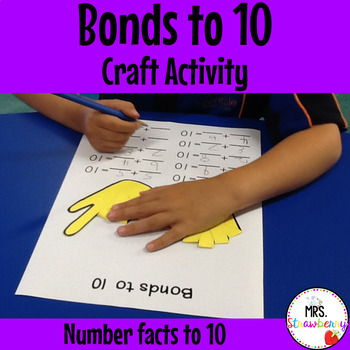 Number Bonds to 10 Craft Activity