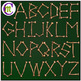 Bone Alphabet Clip Art CM | Dinosaur Clipart