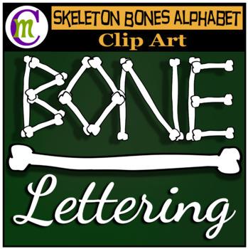 Bone Alphabet Clip Art CM   Halloween Clipart