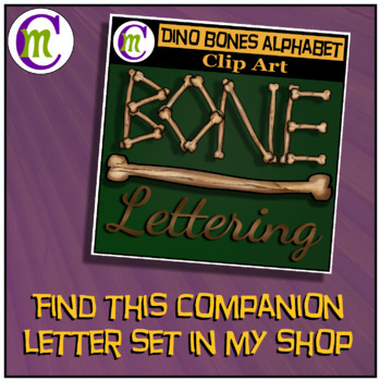 Bone Alphabet Clip Art CM | Halloween Clipart
