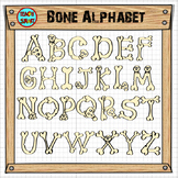 Bone Alphabet Clipart