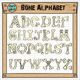 Bone Alphabet Clip Art