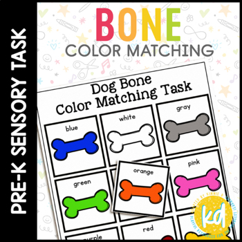 Dog Bone Color Matching Folder Game for Early Childhood Special Education