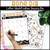 Bone Dig Letter Identification Sensory Bin
