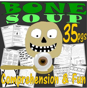 Bone Soup Halloween Book Companion Reading Comprehension Activity Literacy Unit
