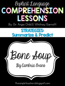 Bone Soup - Summarize and Predict Comprehension Lesson Plan