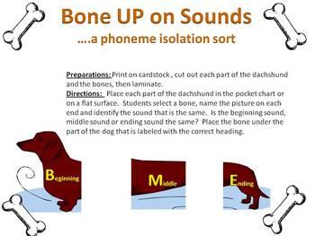 Bone Up on Sounds - a phoneme isolation sort