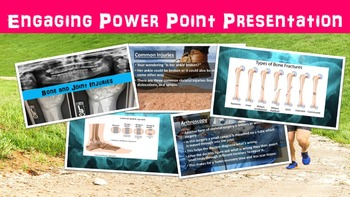 Bone and Joint Injuries No Prep Lesson w/ Power Point, Worksheet, X-Ray Activity